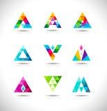 Triangles Logo Design stock illustration