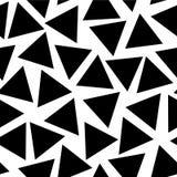 Triangles noires dispersées sur un fond blanc illustration stock