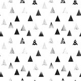 Triangles noires texturisées Configuration sans joint Photographie stock