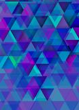 Triangles over bluish background Stock Image