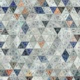 Embroidery triangles patchwork for wallpaper and print stock illustration