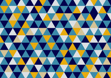 Triangles pattern background in blue yellow Royalty Free Stock Image