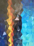 Triangles pattern with Color shade of blue and little line Stock Image