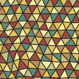 Triangles pattern of geometric shapes. Colorful mosaic backdrop. Geometric hipster retro background, place your text on the top of Royalty Free Stock Photo