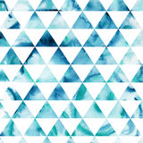 Triangles pattern of geometric shapes. Colorful mosaic backdrop. Stock Photo
