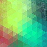 Triangles pattern of geometric shapes. Colorful mosaic backdrop. Royalty Free Stock Photo