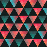 Triangles pattern of geometric shapes. Colorful mosaic backdrop. Stock Image