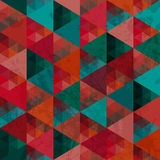Triangles pattern of geometric shapes. Colorful mosaic backdrop. Stock Photos