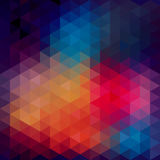 Triangles pattern of geometric shapes. Colorful mosaic backdrop. Geometric hipster retro background, place your text on the top of it. Retro triangle stock illustration