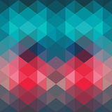Triangles pattern of geometric shapes. Colorful mosaic backdrop. Stock Photography