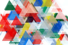 Triangles pattern illustration Stock Image