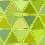 Triangles mosaic in lime colors yellow and green vector illustration