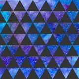 Triangles pattern on space texture, abstract background. Geometrical simple illustration vector illustration