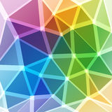 Triangles or polygons with light borders. In rainbow bright colors Royalty Free Illustration