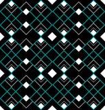 Triangles sans joint d'art déco de turquoise photo libre de droits