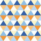 Triangles seamless geometric pattern. Seamless geometric pattern of triangles Royalty Free Stock Photos