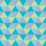 Triangles seamless geometric pattern. Seamless geometric pattern of triangles in blue and green Royalty Free Stock Photos