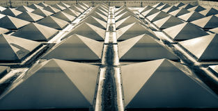 Triangles skylight roof. Royalty Free Stock Image