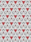 Triangles and spirals abstract pattern stock photography