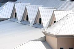 Triangles. Unique triangle metal roof designed for maximum rain repulsion Royalty Free Stock Photo