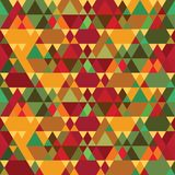 Triangles Vintage Seamless Pattern Stock Image