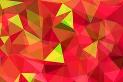 Triangolare arruffato geometrico verde e rosso Fotografie Stock Libere da Diritti