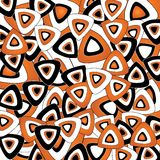 Triangoli arancioni Immagini Stock