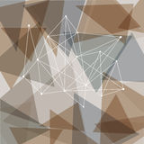 Triangoli astratti Fotografie Stock