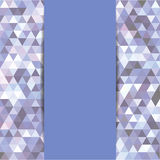 Triangoli astratti del mosaico Immagini Stock
