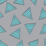 Triangoli blu del modello senza cuciture con le linee Fotografia Stock Libera da Diritti