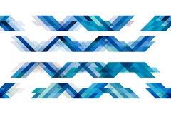 Triangoli blu di tono su fondo bianco isolato Illustrazione Vettoriale