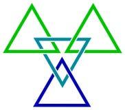 Triangoli della treccia royalty illustrazione gratis