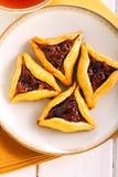 Triangoli di riempimento della pasticceria della frutta Fotografia Stock