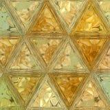 Triangoli floreali arancio nel modello continuo immagine stock