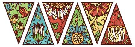 Triangoli floreali luminosi Fotografia Stock Libera da Diritti