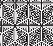 Triangoli, modello astratto in bianco e nero royalty illustrazione gratis