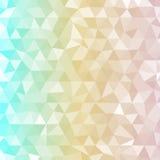 Triangoli a tre colori del fondo con i toni leggeri trasparenti royalty illustrazione gratis