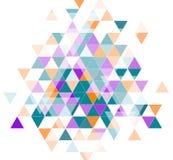 Triangoli variopinti bianchi Fotografia Stock Libera da Diritti