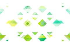 Triangoli verdi di tono su fondo bianco isolato Illustrazione di Stock