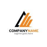Triangolo astratto Logo Template Design Vector, emblema, concetto di progetto, simbolo creativo, icona Immagine Stock Libera da Diritti