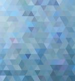 Triangolo blu Fotografia Stock