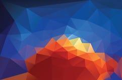 Triangolo blu arancio Fotografia Stock Libera da Diritti