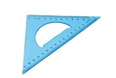 Triangolo blu isolato Fotografia Stock Libera da Diritti