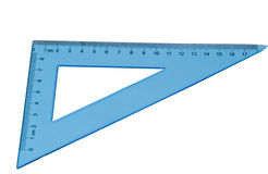 Triangolo blu isolato Fotografia Stock