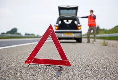 Triangolo d'avvertimento Fotografia Stock Libera da Diritti