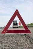 Triangolo d'avvertimento Immagine Stock