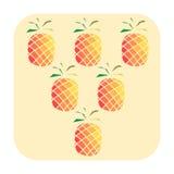 Triangolo dagli ananas Fotografie Stock