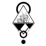 Triangolo del tatuaggio illustrazione geomatic Fotografia Stock