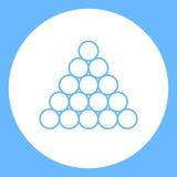 Triangolo dell'icona delle palle stagno/del biliardo Fotografie Stock Libere da Diritti