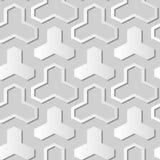 triangolo dell'incrocio della geometria del poligono di arte del Libro Bianco 3D Fotografia Stock